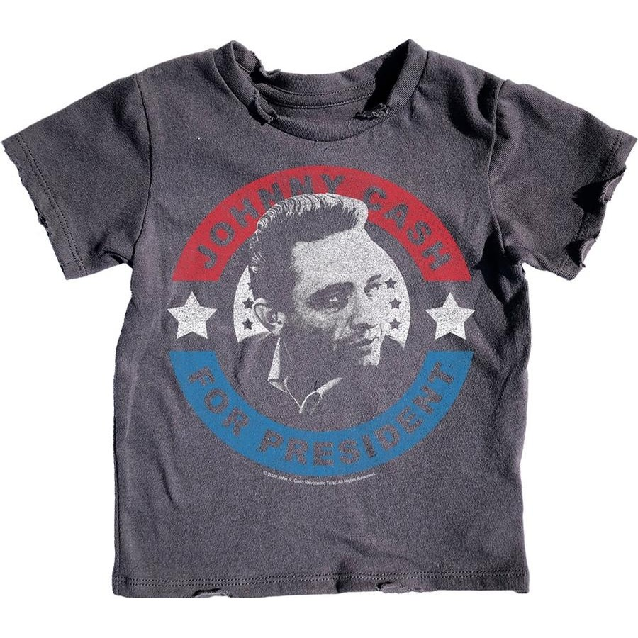 Johnny Cash for President Short Sleeve Tee (Off Black)