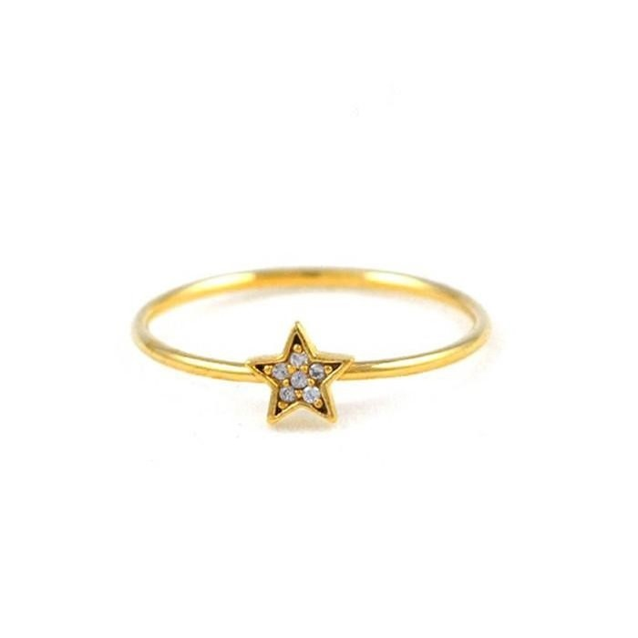 CZ Star Ring (Gold)