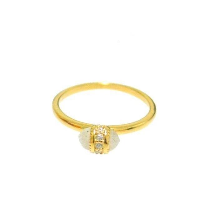 Mini Stone and CZ Ring (Gold)