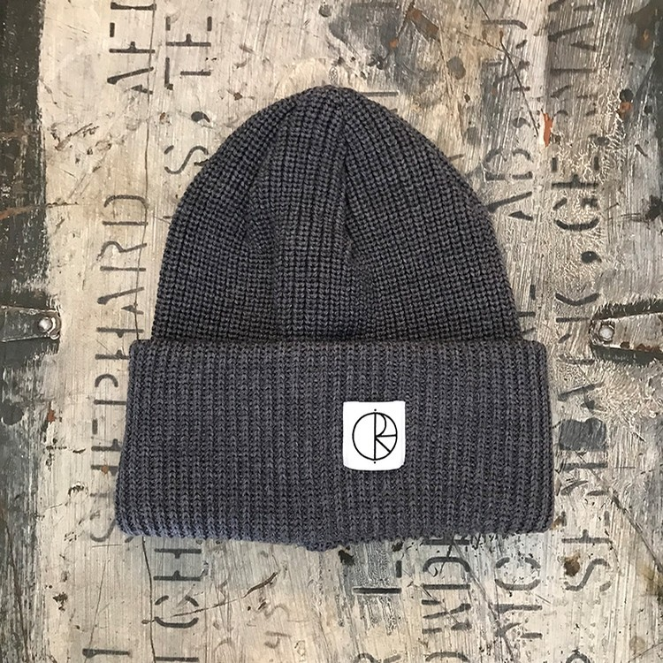 Double Fold Merino Beanie (Heather Grey)
