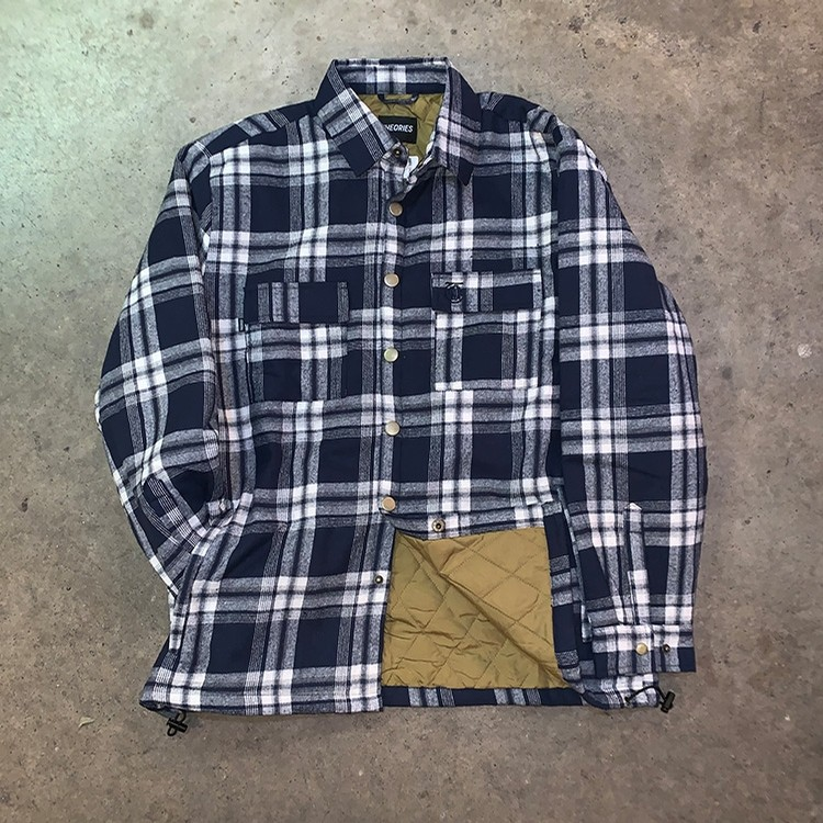 Lantern Flannel Jacket (Navy)