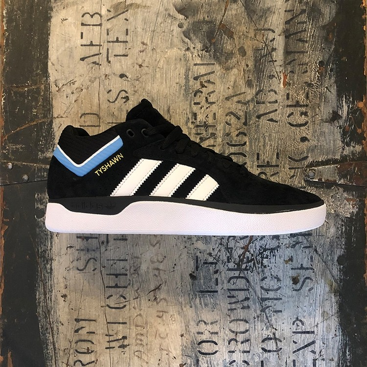 Adidas Tyshawn Pro (Black/White/Lt Blue)