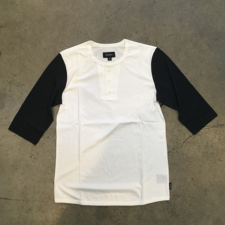 Adam 3/4 Sleeve Henley (Off White)