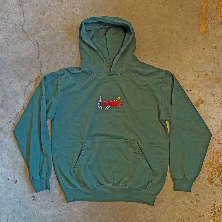 Embroidered Smoke Hoody (Dark Green)