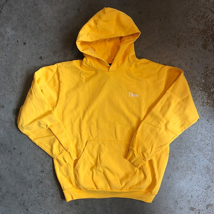 Classic Embroidered Hoodie (Yellow)