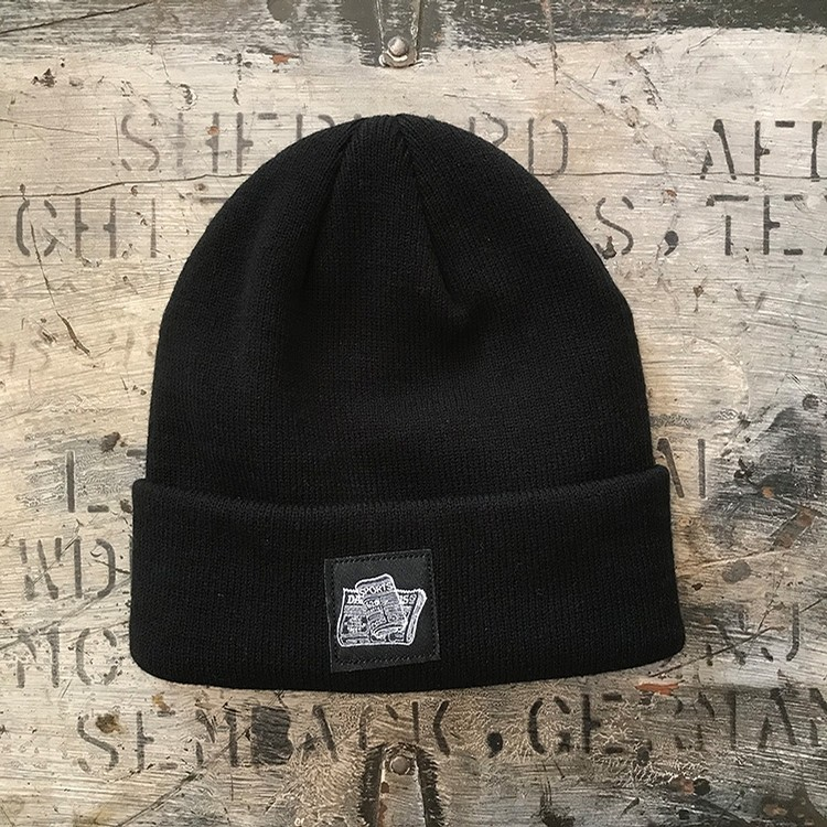 Newspaper Beanie (Black)