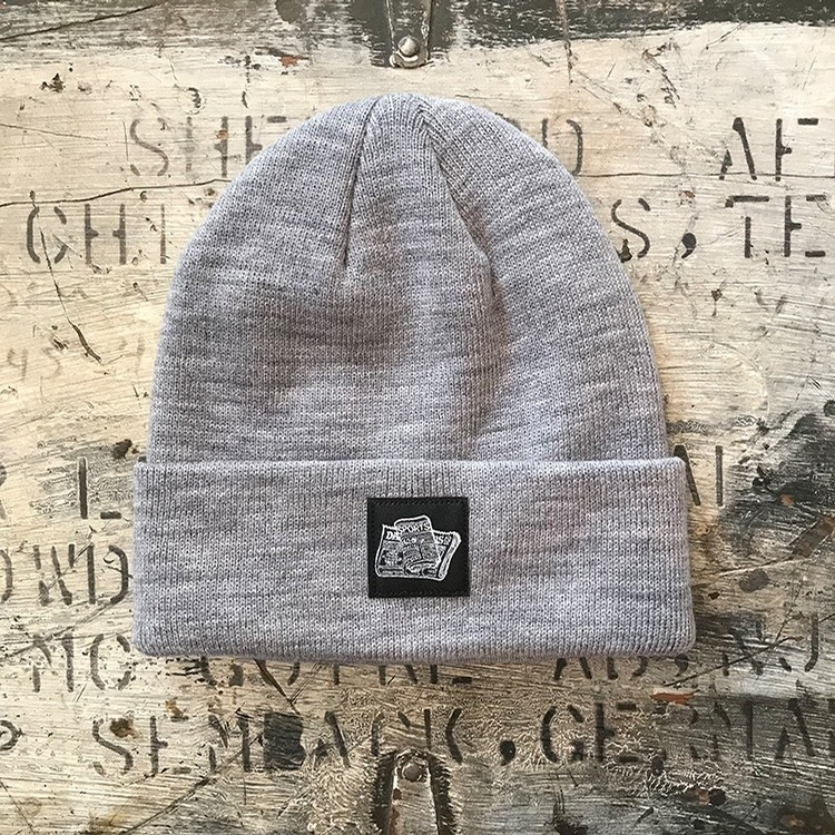 Newspaper Beanie (Steel Heather)