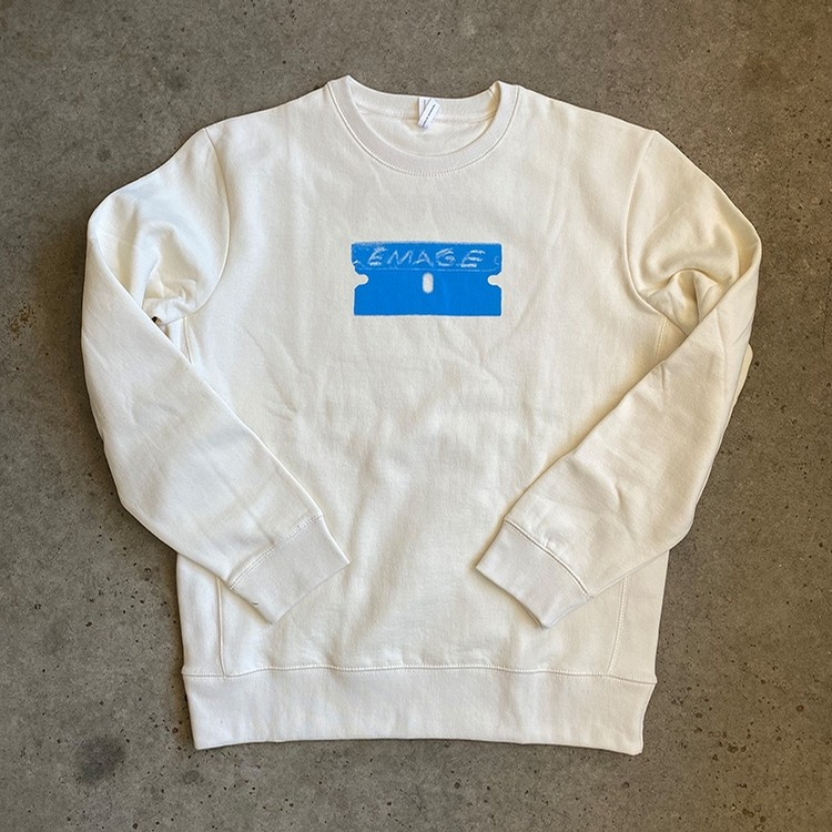 Razor Crewneck (Natural/Blue)