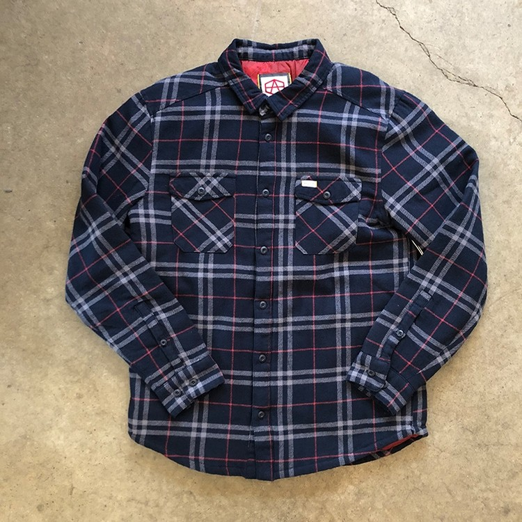AR Plaid L/S (Navy)
