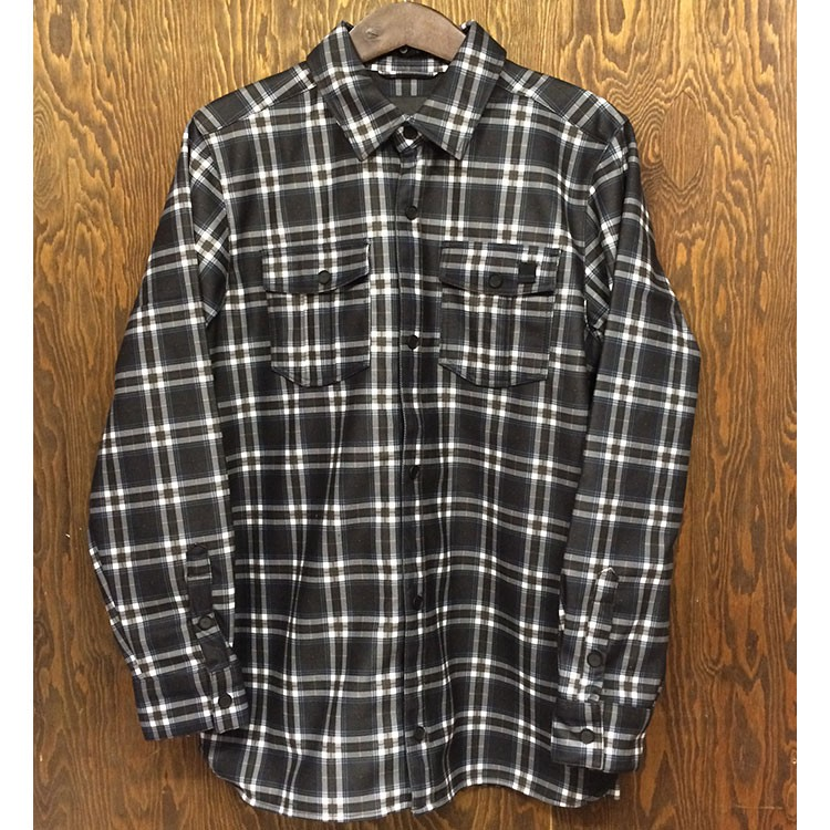 Drip Bonded Flannel (Black/White)