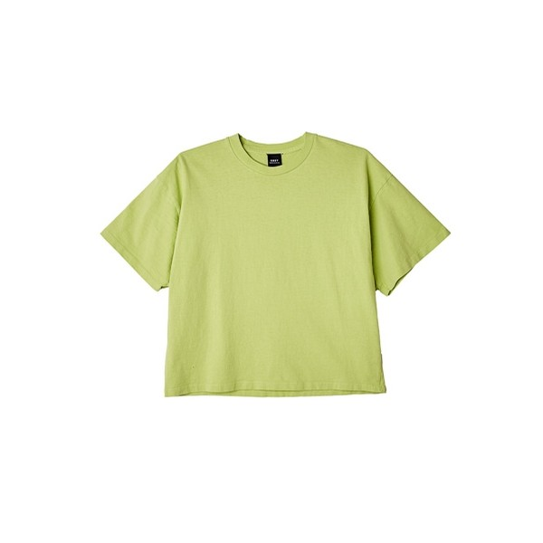 Custom Cropped Tee: Bright Lime