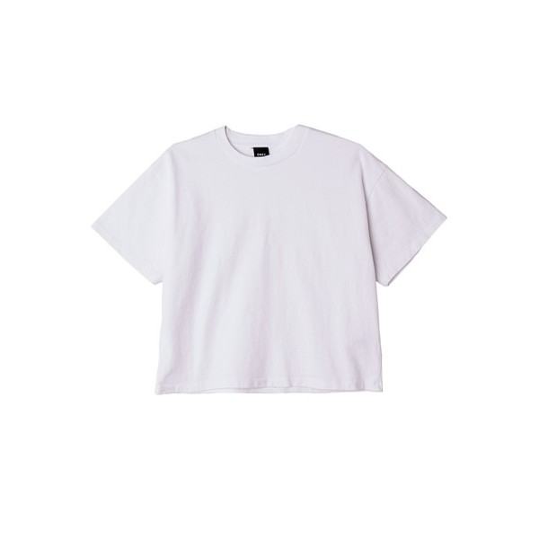 Custom Cropped Tee: White