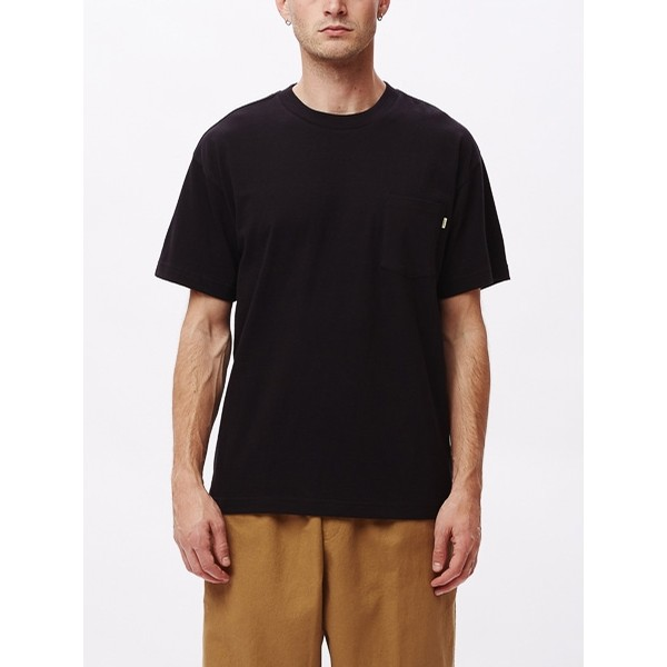 Ideals Recycled Pocket Tee: Black