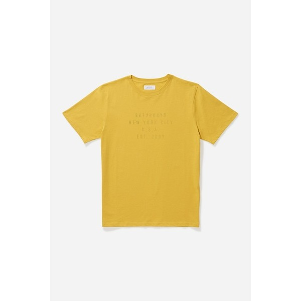 Inside Out S/S Tee: Goldenrod