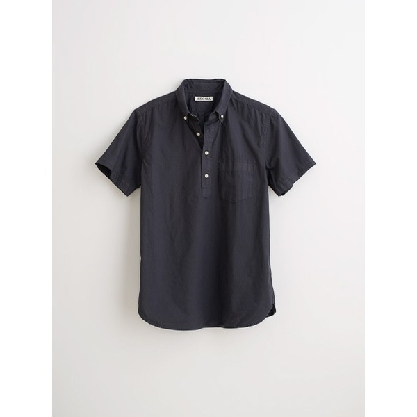 Paper Poplin S/S Popover: Washed Black