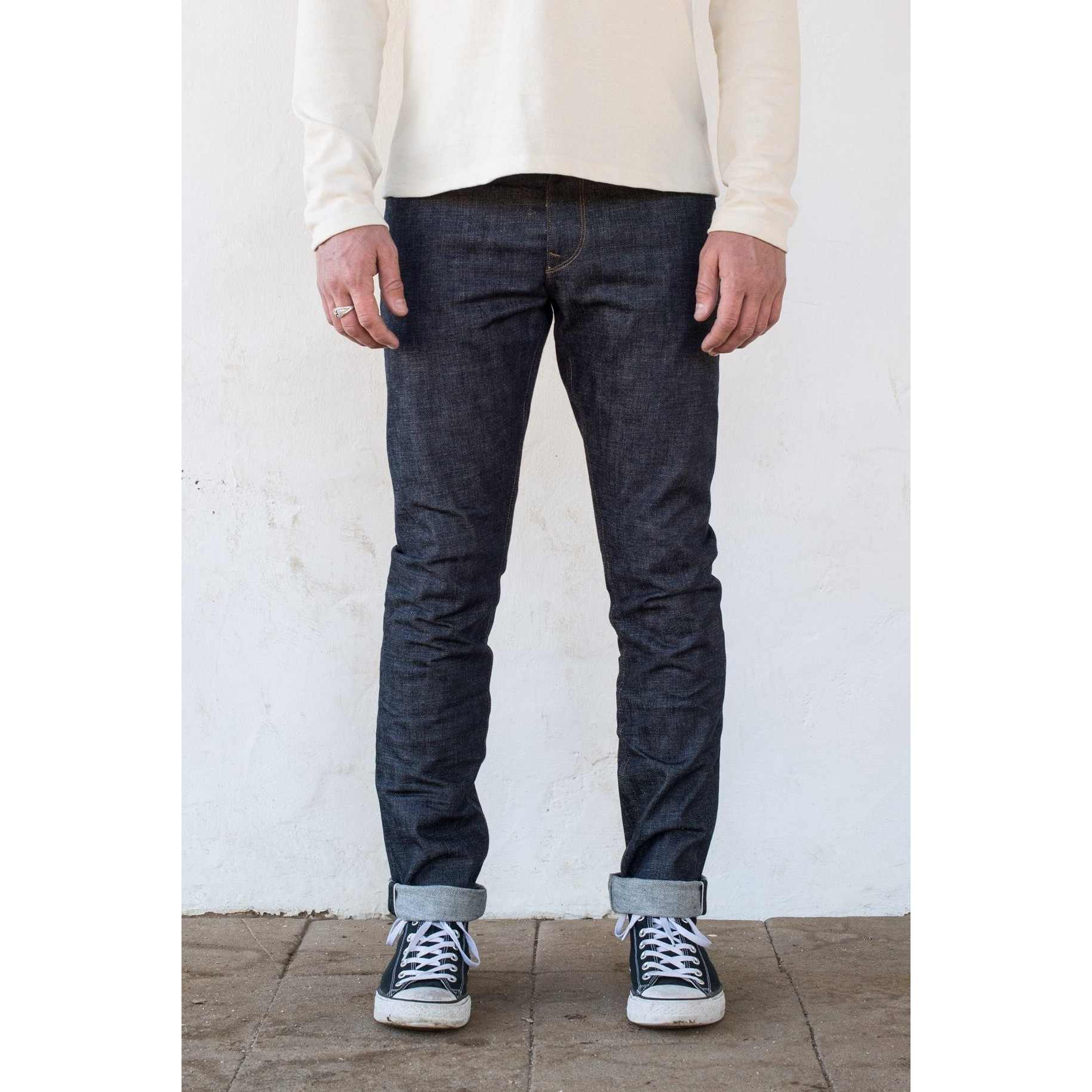 Freenote Cloth Avila Slim Taper: 13oz Natural Indigo