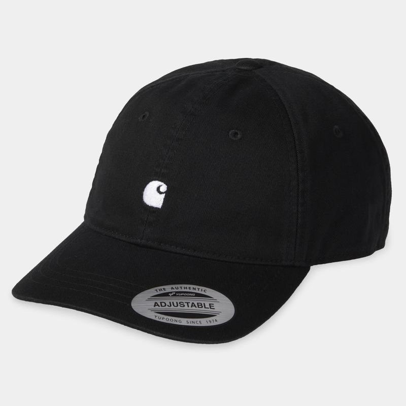Madison Logo Cap: Black/Wax