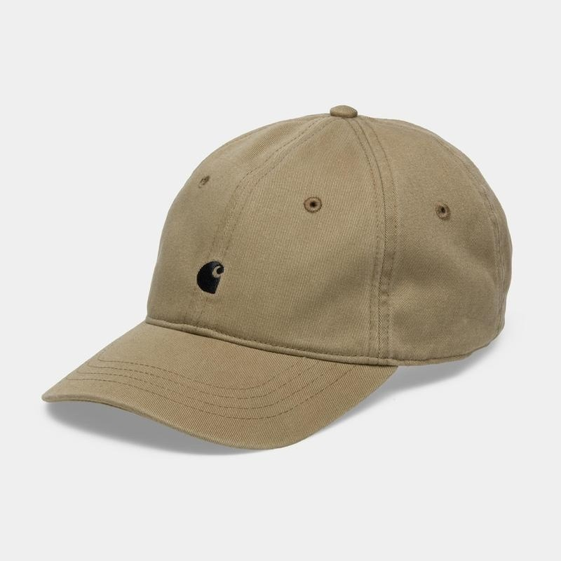 Madison Logo Cap: Twill Leather/Dark Navy