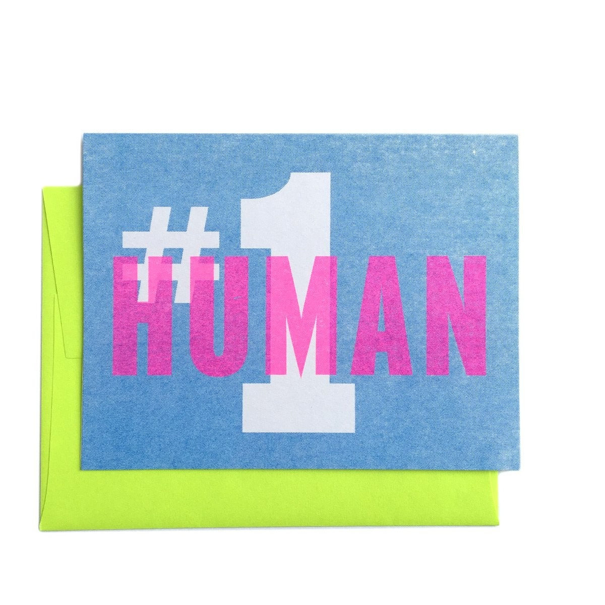 #1 Human Greeting Card