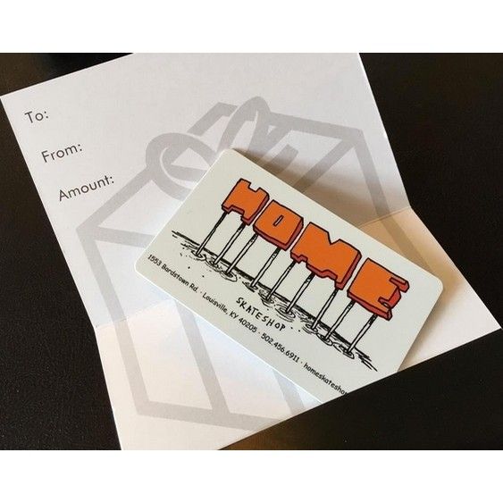 Home Skateshop Gift Cards Starting At:
