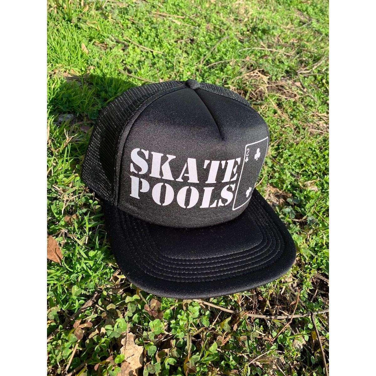 Skate Pools Black Mesh Hat
