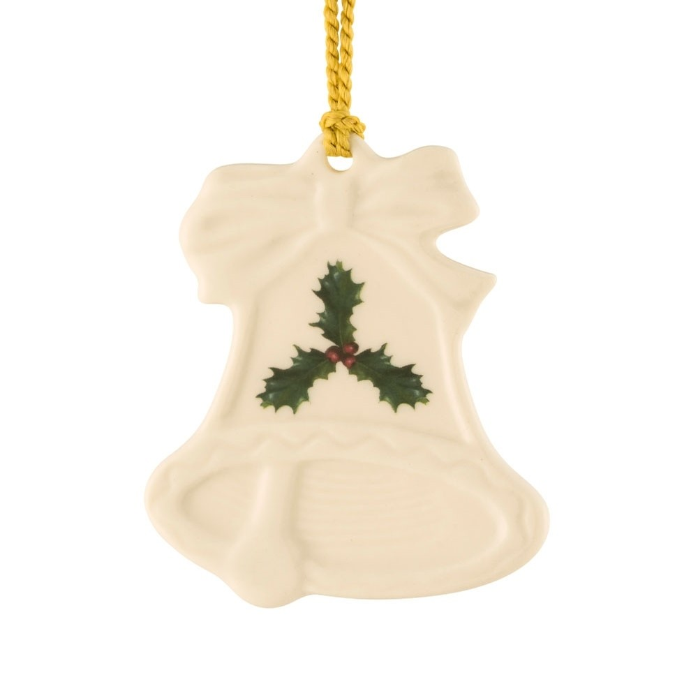 Holly Bell Flat Ornament