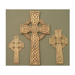 "Irish Brass Medium Celtic Wall Cross / ""IHS"" center"
