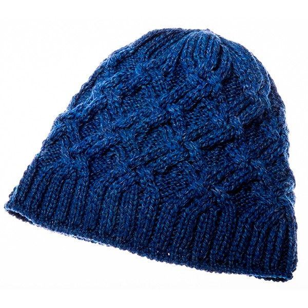 Blue Trellis Wool Hat