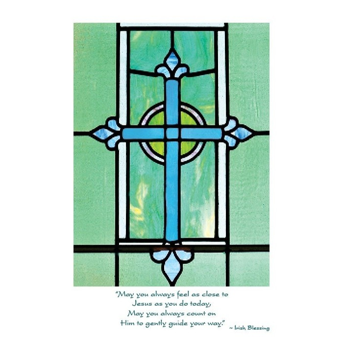 Celtic Cross Communion Card