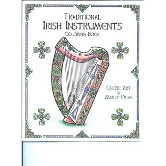 CIM, Traditional Irish Instruments Coloring Book