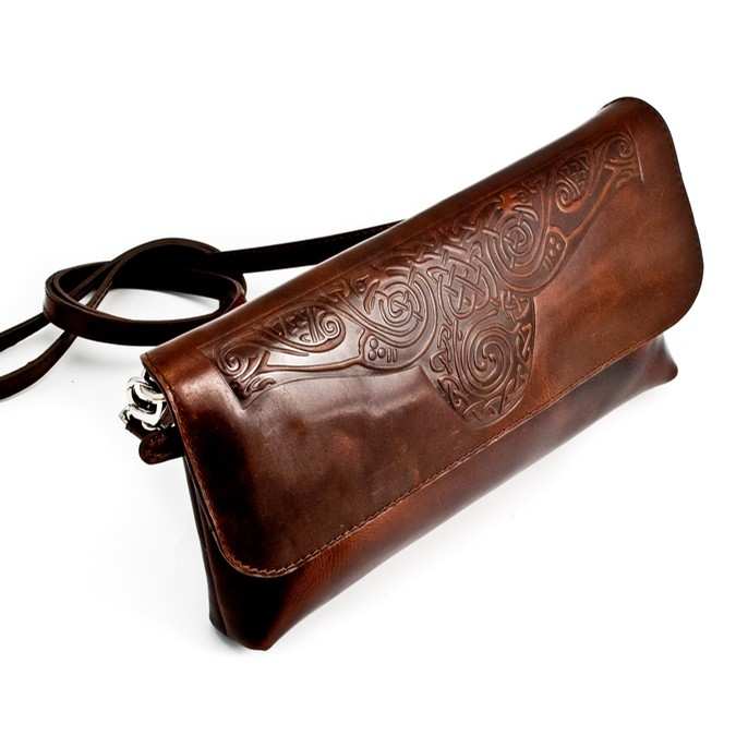 Celtic Leather Bag from Ireland (Clutch Bag)