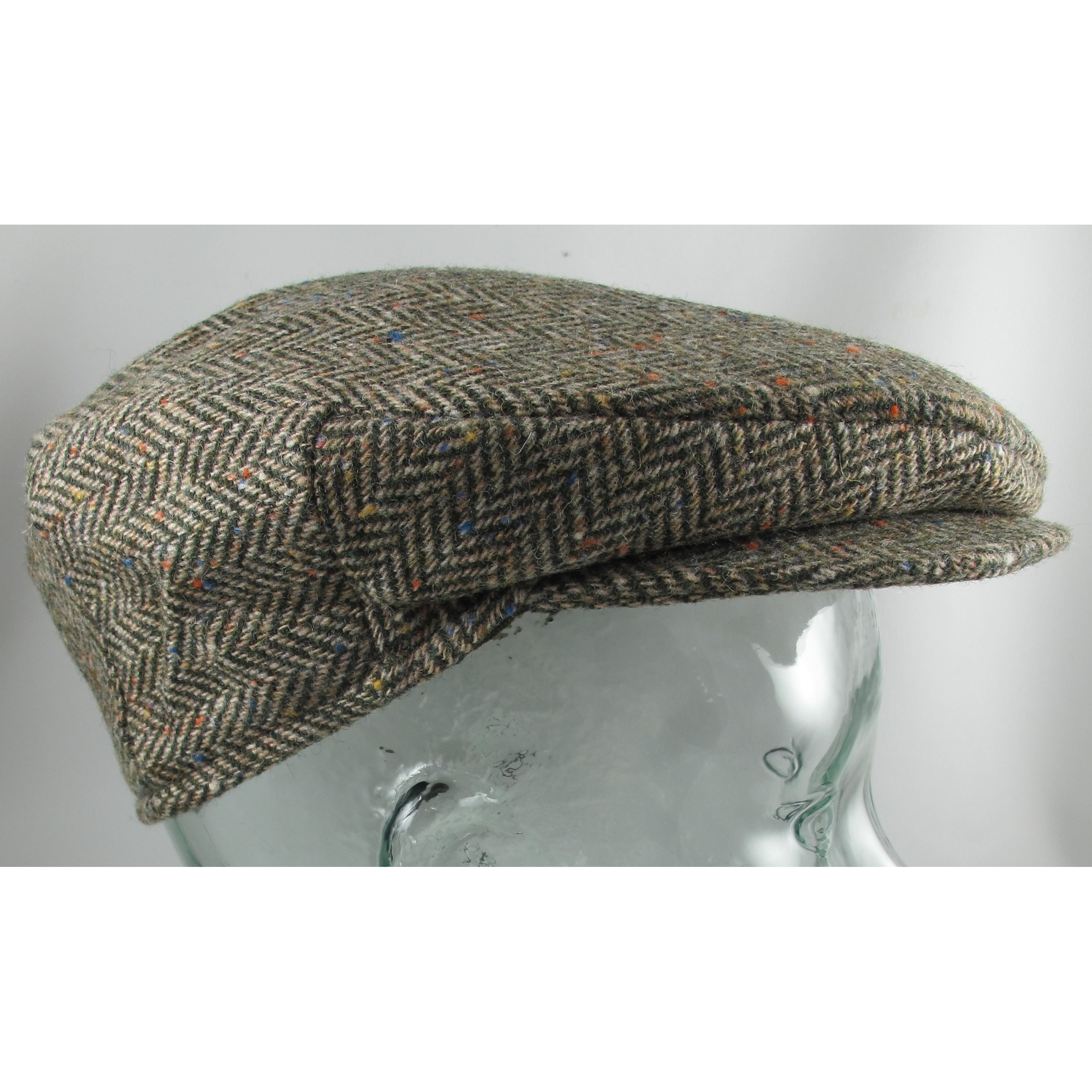 Tight Green and Brown Herringbone Vintage Cap