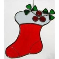 Stained Glass Christmas Stocking