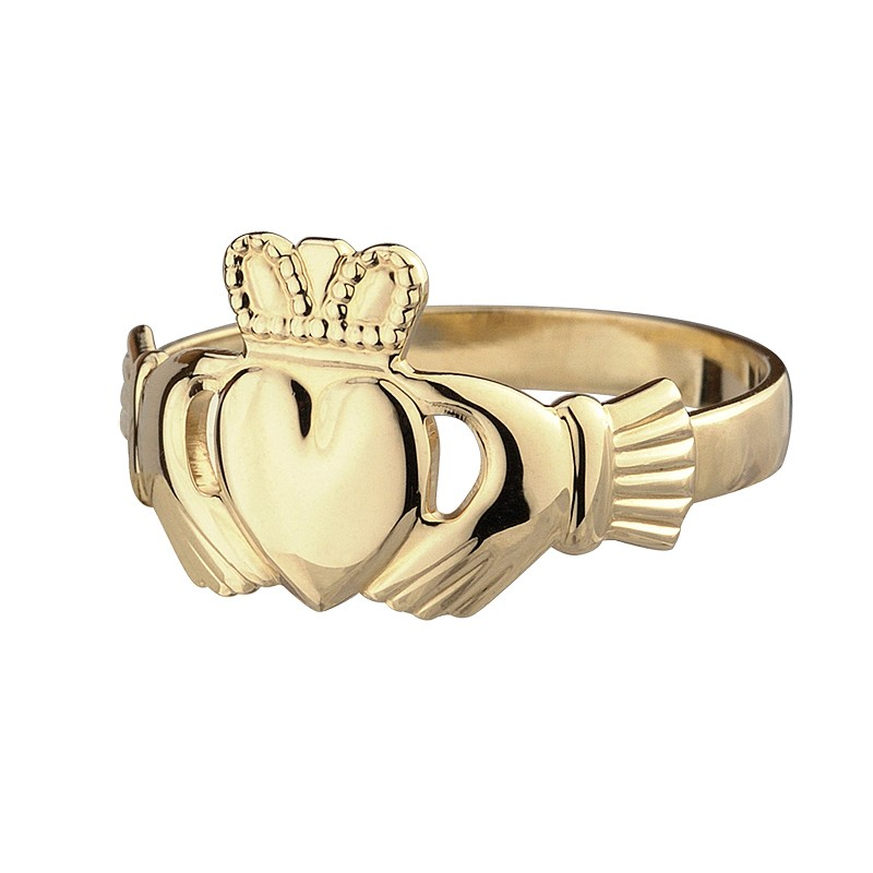 10K Gold Ladies Claddagh Ring