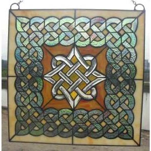 Celtic Diamond Stained Glass