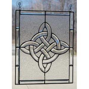 Celtic View Beveled Window