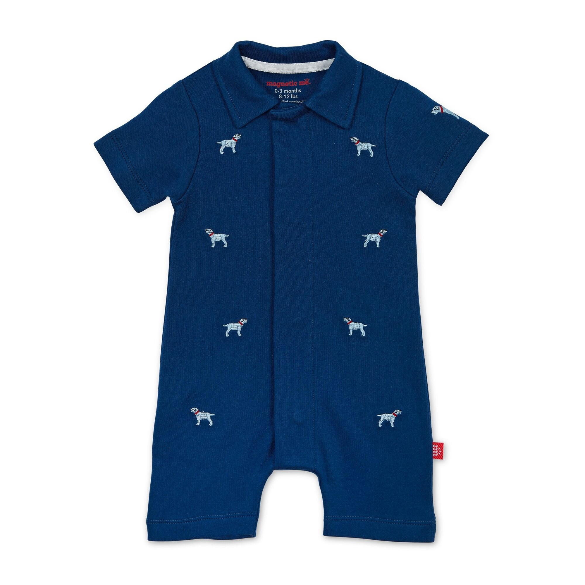 Organic Cotton Magnetic Polo Romper
