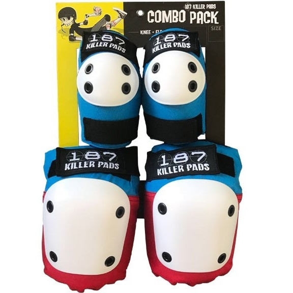 Elbow/Knee Combo Pack (Blue/Red)