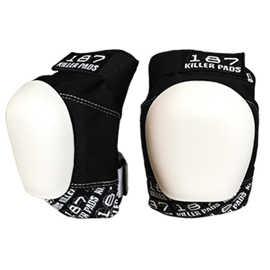 Pro Knee Pads (Black White/White Cap)