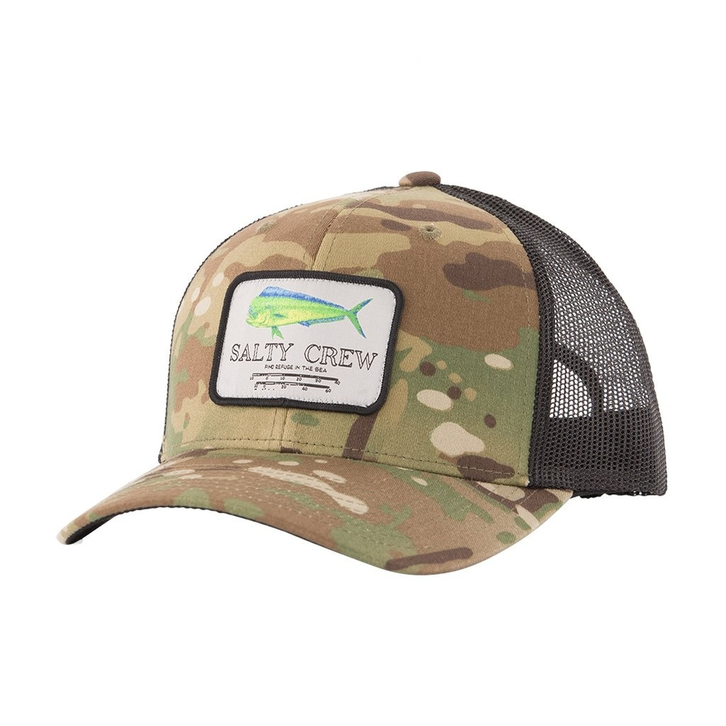 Mahi Mount Retro Trucker Hat (Multicam Green)