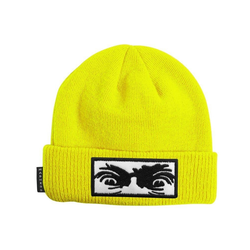 Mad Eyes Beanie (Safety Yellow)