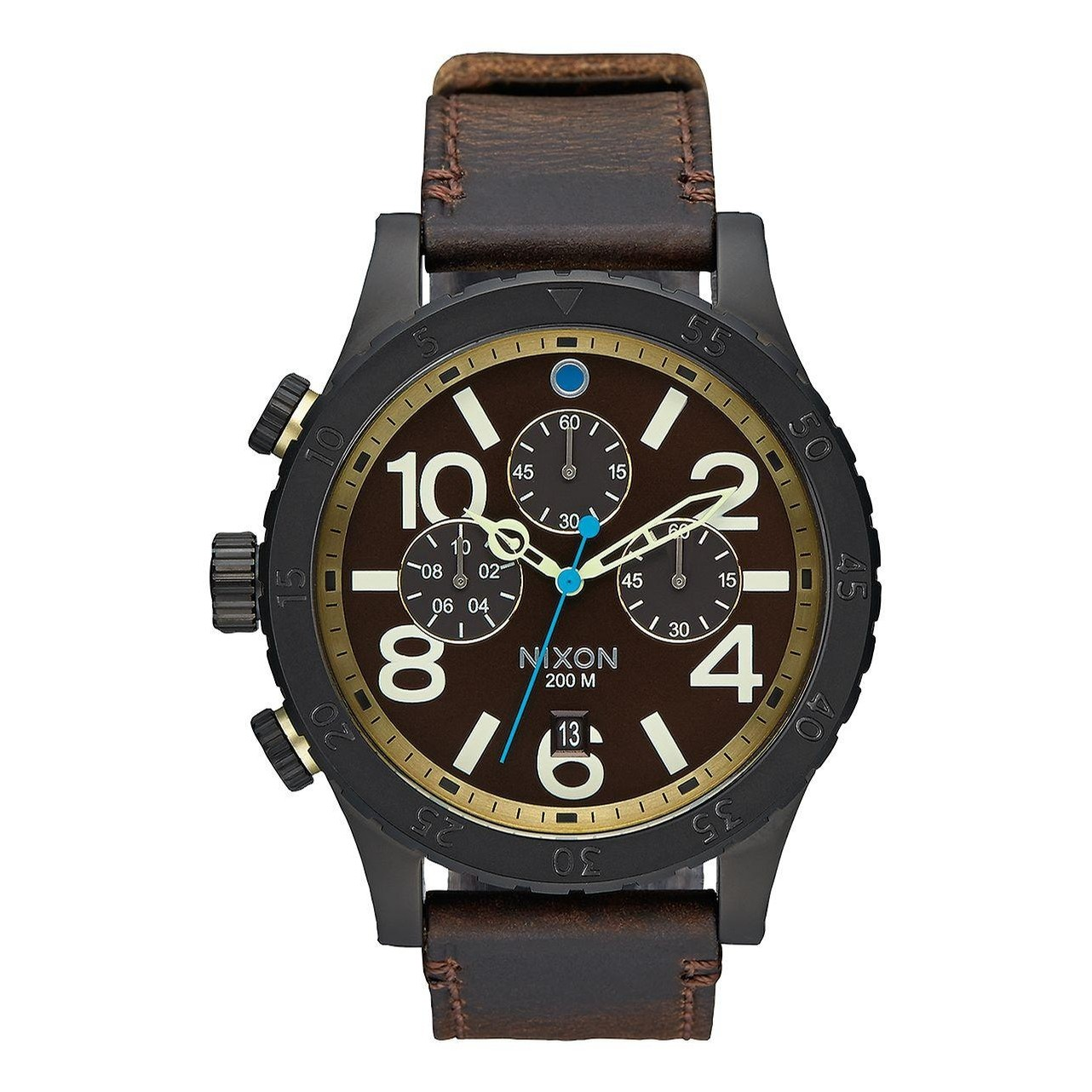 48-20 Chrono Leather (All Black/Brass/Brown)