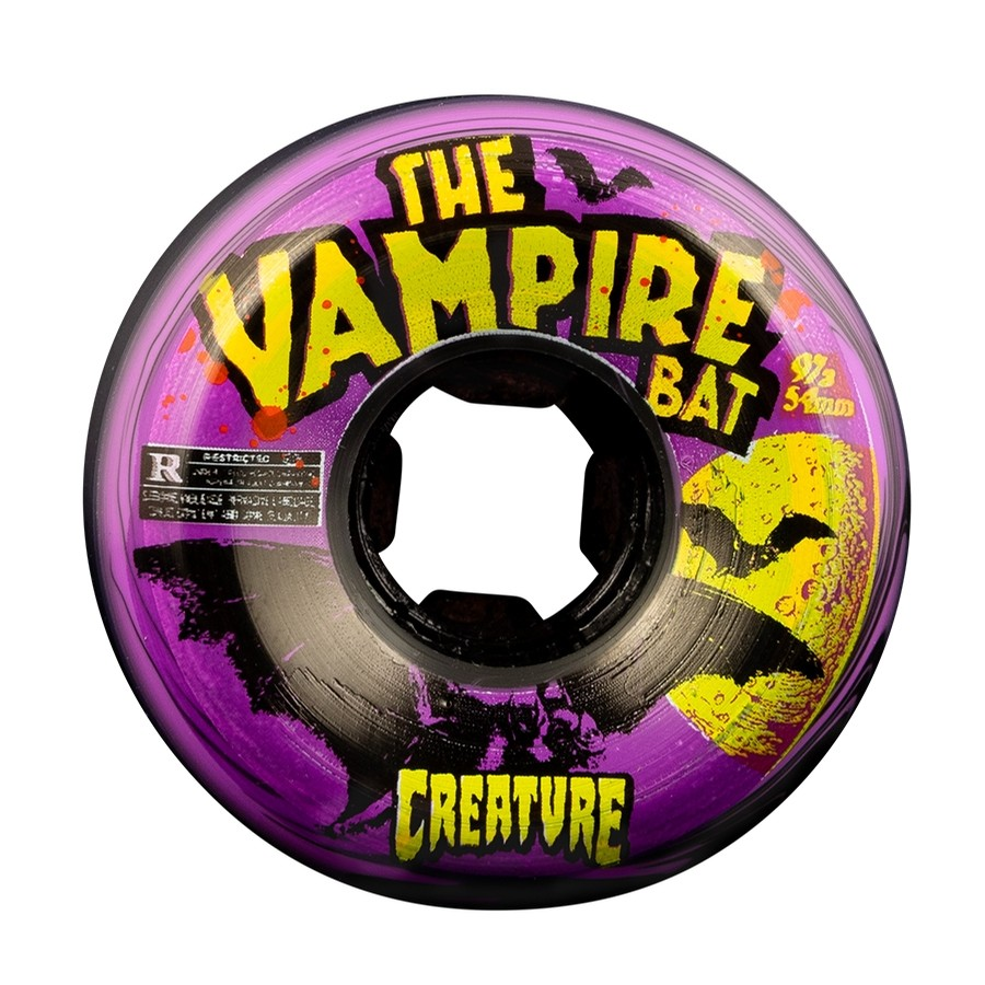 Vampire Bat Bloodsuckers Creature 97a Wheels (Black Purple Swirl)