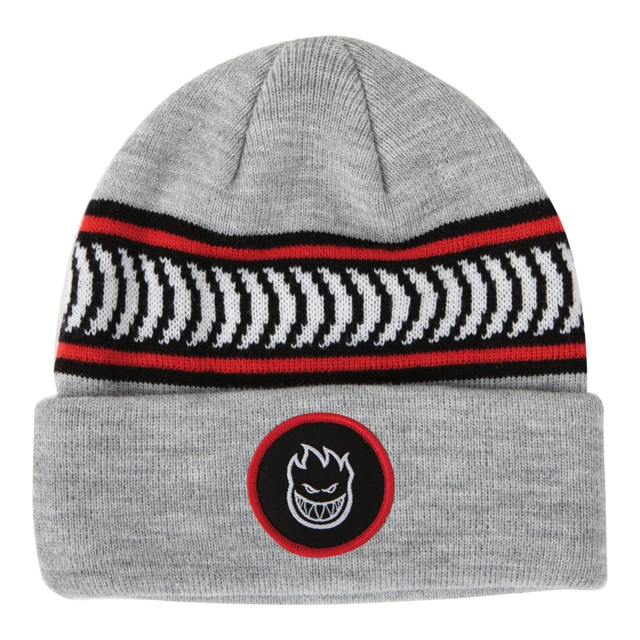 Bighead Circle Patch Beanie (Heather Grey)