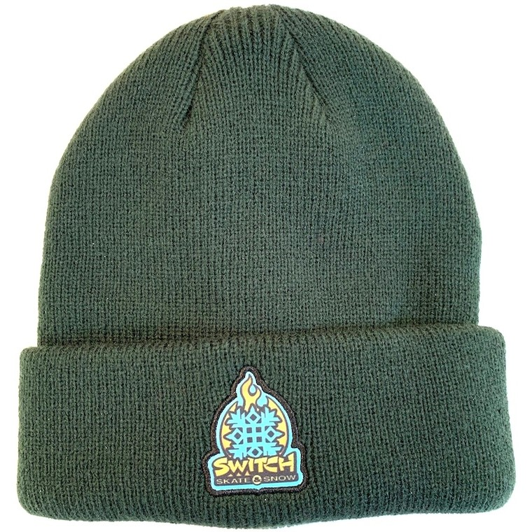Flame Logo Patch Beanie (Forest)