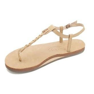 T-Street - Single Layer Sierra Center Braid w\ Ankle Strap (Sierra Brown)