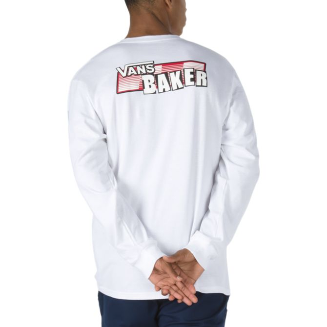BAKER X VANS SPEED CHECK LONG SLEEVE (White)