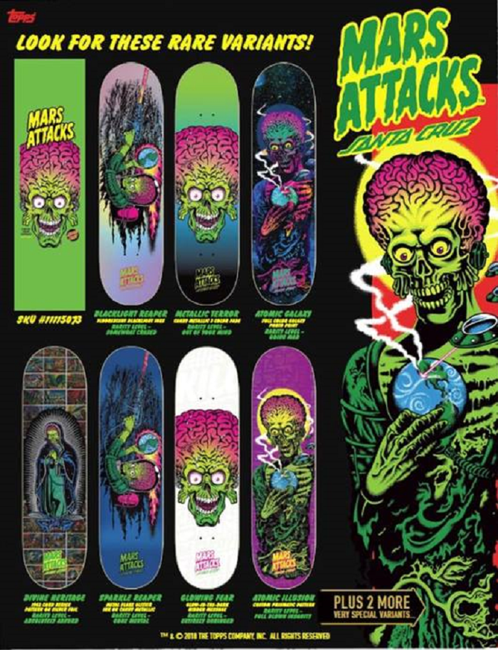Mars Attacks Santa Cruz Preorder Mystery Boards