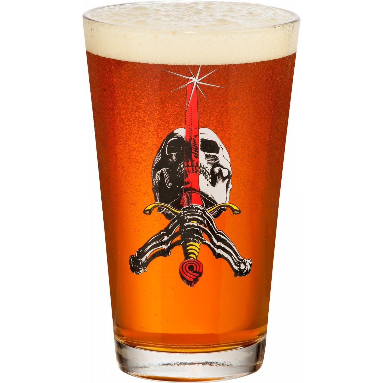 Skull and Sword Glass