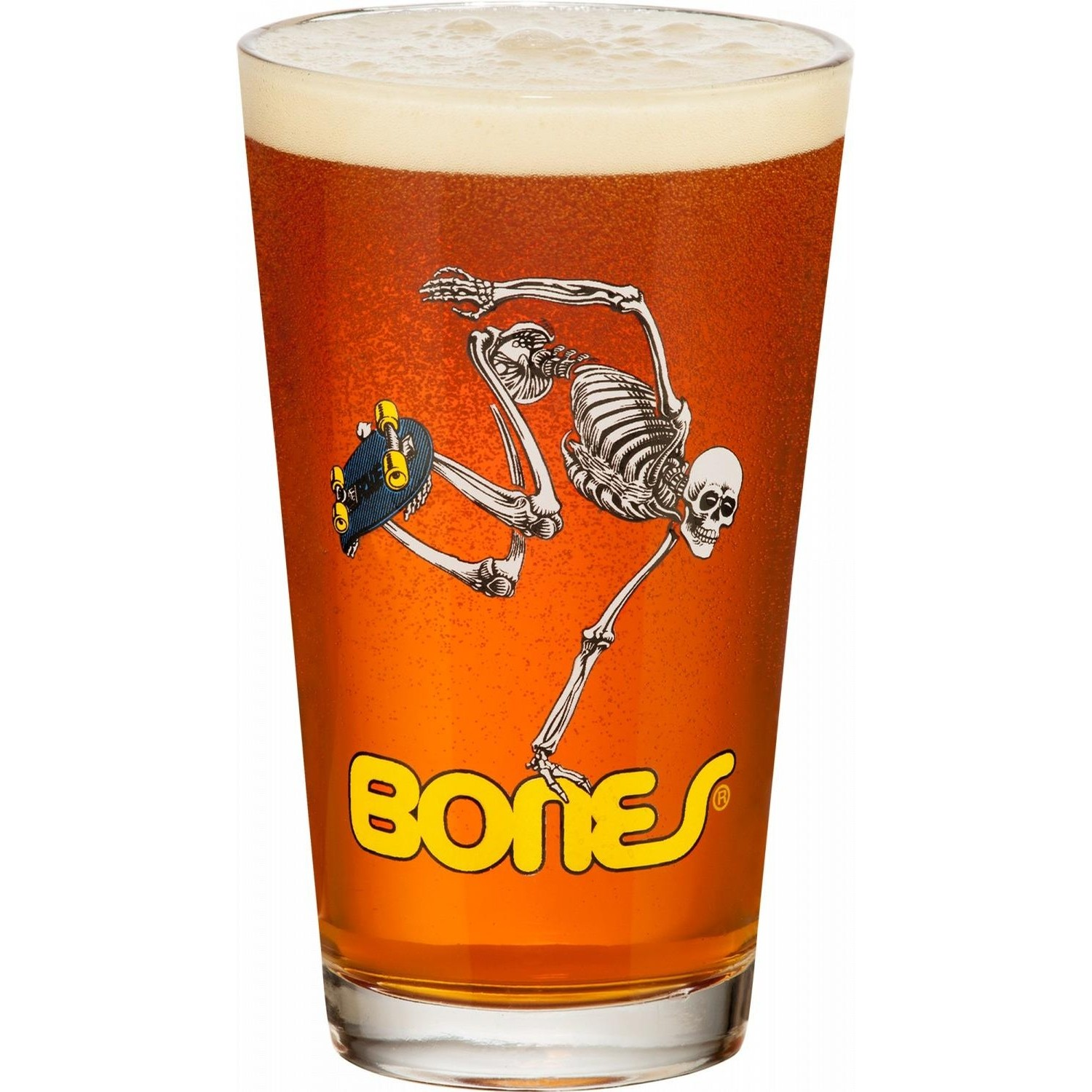 Skateboard Skeleton Glass